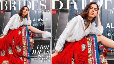 Alaya F Stuns as the Cover Girl for Brides Today Magazine and Her Picture Will Make You Sing 'Billo Ni Tera Laal Ghaghra'