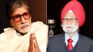 Amitabh Bachchan Pays Respects To Late Hockey Legend Balbir Singh Sr, Condoles The Death of 'Champion' and 'Indian Pride' (View Tweet)