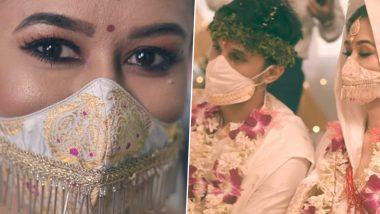 Assamese Couple Get Married Wearing Beautiful Silk Handloom Mask, Receives Praises on Social Media (Pics & Video)