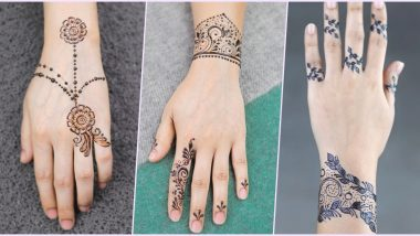 5-Minute Easy and Quick Mehndi Designs for Eid al-Fitr: Make Bracelet Henna Patterns Around Your Wrists For The Eid Festival (Watch Video Tutorials)