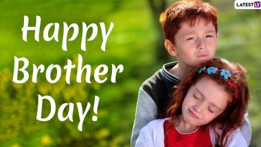 Happy Brother's Day 2020 Messages & HD Images: WhatsApp Stickers, GIF Greetings, Facebook Quotes and SMS to Send on US National Brother's Day
