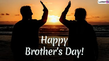 Happy Brother's Day 2020 Images in HD & Greetings for Free Download Online: Wish on US National Brother's Day With WhatsApp Stickers, Quotes, GIF Messages and Wallpapers