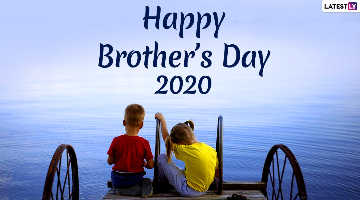Brother's Day Images & HD Wallpapers for Free Download Online: Wish Happy US National Brother's Day 2020 With WhatsApp Stickers and GIF Greetings