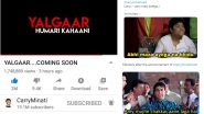 #CarryMinatiRoast Trends Again With Funny Memes & Jokes After Ajey Nagar Announces His New YouTube Video 'YALGAAR…COMING SOON'