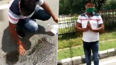 Chandigarh Biker Spits on Road, Traffic Cop Makes Him Clean it, Watch Video
