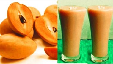 Chikoo Millkshake For Summer: Here's Why You Should Have Sapota Drink to Beat The Heat (Watch Video)