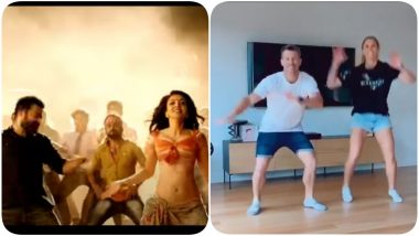David Warner Shakes a Leg to Popular Track 'Pakka Local' Along With Wife Candice, Wish Jr NTR On His Birthday (Watch Video)