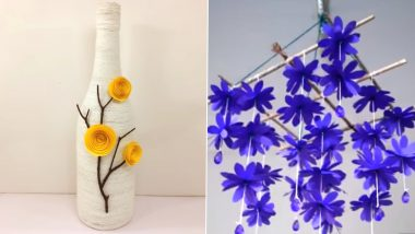 DIY Home Decor Ideas: From Decorated Wine Bottles to Paper Wind Chimes, 5 Easy Ways to Brighten Your House And Make Good Use of Lockdown (Watch Videos)