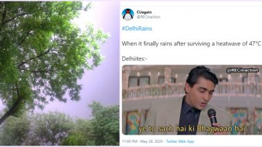#DelhiRains Trends Online With Beautiful Photos and Some Funny Memes on Twitter