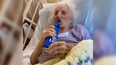 103-Year Grandma in US Beats Coronavirus and Celebrates by Sipping a Beer! (Pic Goes Viral)