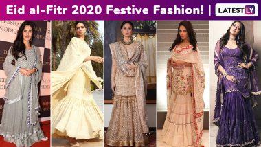 Eid Al-Fitr 2020: Aishwarya Rai Bachchan, Deepika Padukone, Kareena Kapoor Khan, Katrina Kaif, Sonakshi Sinha Dazzled With Their Festive Shararas!