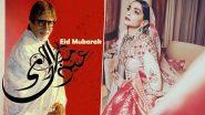 Eid al-Fitr Mubarak 2020: Amitabh Bachchan, Sonam Kapoor, Sara Ali Khan and Other Bollywood Stars Wish Fans With Beautiful Posts (View Pics)