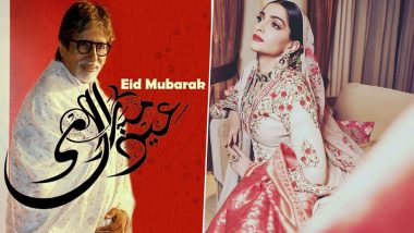 Eid al-Fitr Mubarak 2020: Amitabh Bachchan, Sonam Kapoor, Sara Ali Khan and Other Bollywood Stars Wish Fans With Beautiful Posts (View Pics)