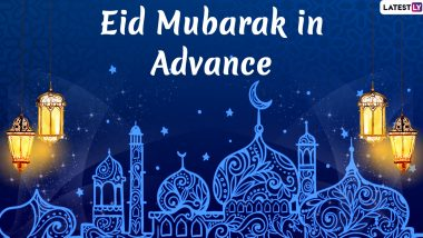 Eid Mubarak in Advance Images & HD Wallpapers For Free Download Online: Wish Chand Raat Mubarak 2020 With WhatsApp Stickers and GIF Greetings