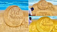 Eid Mubarak 2020 Sand Art By Sudarsan Pattnaik: Sand Artist Creates Beautiful Sculpture Wishing Happy Eid ul-Fitr (View Image)