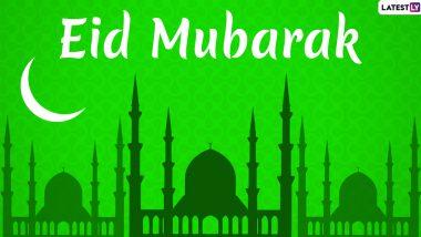Eid Mubarak 2020 Greetings in Urdu & Happy Eid al-Fitr 1441 AH Messages: WhatsApp Stickers, HD Images, Eid GIFs, Facebook Quotes and Wishes to Send on Eid ul-Fitr