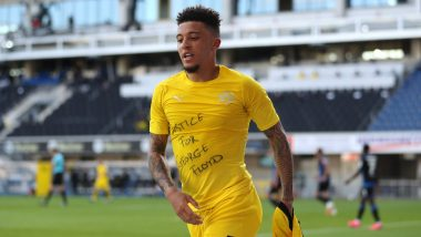 'Justice for George Floyd': England Winger Jadon Sancho Reveals T-Shirt Over African American Killing After Scoring for Borussia Dortmund in Bundesliga