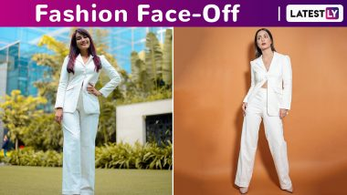 Fashion Face-Off: Hina Khan or Surbhi Jyoti? Who Wore the Ombrello White Pantsuit Better?
