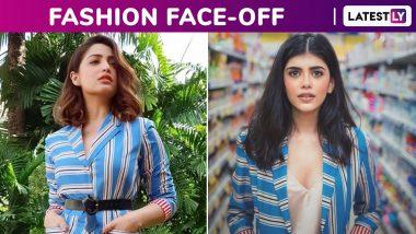 Fashion Face-Off: Yami Gautam or Sanjana Sanghi? Whose Stripe Hype, a Nidhika Shekhar Outfit Was Better?