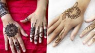5-Minute Quick Finger Mehndi Designs For Eid 2020: Simple Arabic Henna Patterns to Make Eid al-Fitr 2020 Beautiful (Watch Video Tutorials)