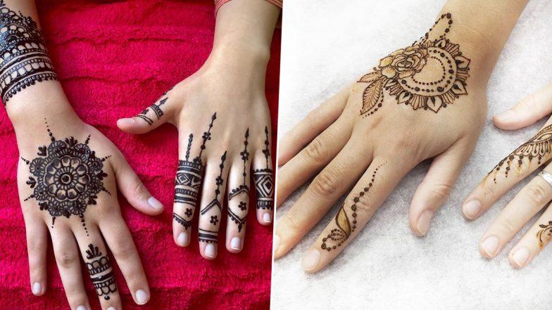 5-Minute Quick Finger Mehndi Designs For Eid 2020: Simple Arabic Henna Patterns to Make Eid al-Fitr 2020 Beautiful (Watch Video Tutorials)