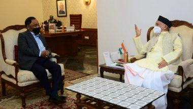 BJP Demands President's Rule in Maharashtra Amid Rising COVID-19 Cases, Former Maharashtra CM Narayan Rane Meets Governor Bhagat Singh Koshyari