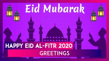 Happy Eid al-Fitr 2020 Greetings & HD Images: Wish Eid Mubarak With WhatsApp Messages and Quotes