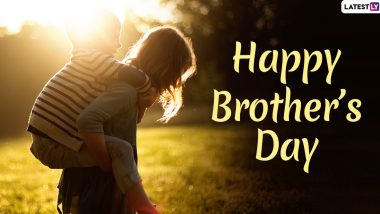 Happy Brother's Day 2020 Greetings & HD Images: WhatsApp Stickers, Quotes, Facebook GIFs, SMS and Messages to Wish Your Sibling