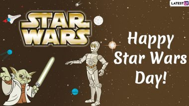 Happy Star Wars Day 2020 Images and Wallpapers For Free Download: Messages, GIFs, Quotes and Wishes to Send All Film Franchise Fans on May The Fourth!
