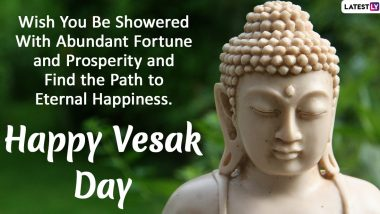 Happy Vesak Day 2020 Greetings: Celebrate Buddha Purnima With WhatsApp Stickers, HD Images, GIF Messages and Motivational Quotes