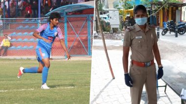 Indian Women's Footballer Indumathi Kathiresan Dons Police Uniform in Battle Against COVID-19
