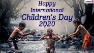 International Children's Day 2020 Images & HD Wallpapers For Free Download Online: Wish on International Day for Protection of Children With WhatsApp Stickers and GIF Greetings