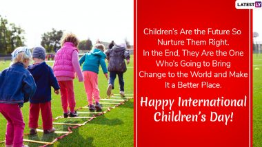 International Children's Day 2020 Wishes: WhatsApp Stickers, GIF Images, Facebook Greetings, Childhood Quotes and SMS to Send on International Day for Protection of Children