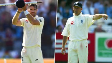 James Anderson Takes a Sarcastic Dig at Former England Captain Nasser Hussain for Dropping Graeme Smith's Catch