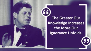 John F. Kennedy 103rd Birth Anniversary: Thought-Provoking Quotes and Sayings by American President to Share in His Remembrance