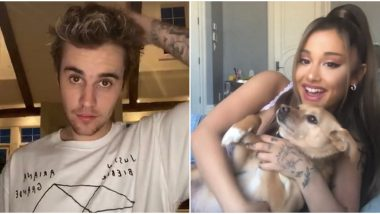 Stuck With U: Justin Bieber and Ariana Grande's Quarantine Collaboration Brings Wide Smile On Their Fans' Faces (View Tweets)