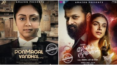 From Jyotika's Ponmagal Vandhal to Jayasurya's Sufiyum Sujathayum, Here Are the 5 South Movies Confirmed to Premiere on Amazon Prime Video