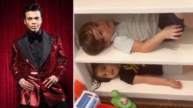 Karan Johar Kids Yash And Roohi Turn The Cabinets Their Bunk Beds!