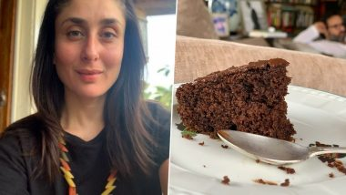 Kareena Kapoor Khan Got a Mouthful of Chocolate Cake With a Grumpy Hubby Saif Ali Khan in the Background (View Pic)