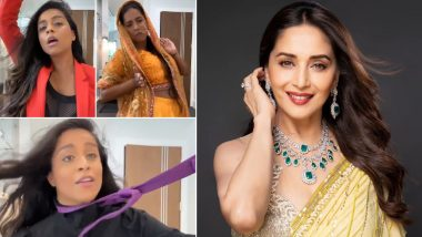 Lilly Singh Gives an Explosively Sexy Tribute to Madhuri Dixit on Her 53rd Birthday, Receives a 'Cute' Reply From the Dhak-Dhak Girl (View Post)