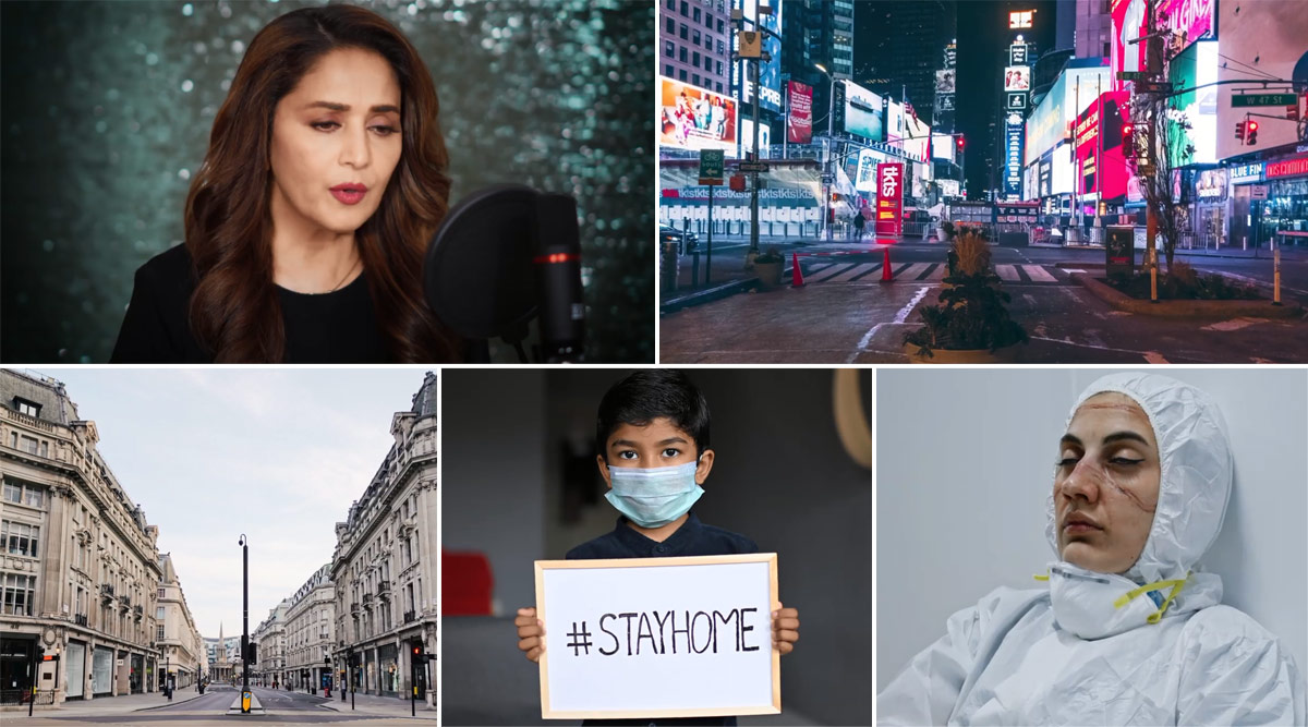 Madhuri Dixit's Debut Single Candle Out: Actress Dedicates This Inspiring Melody to Frontline Workers Fighting COVID-19 (Watch Video)