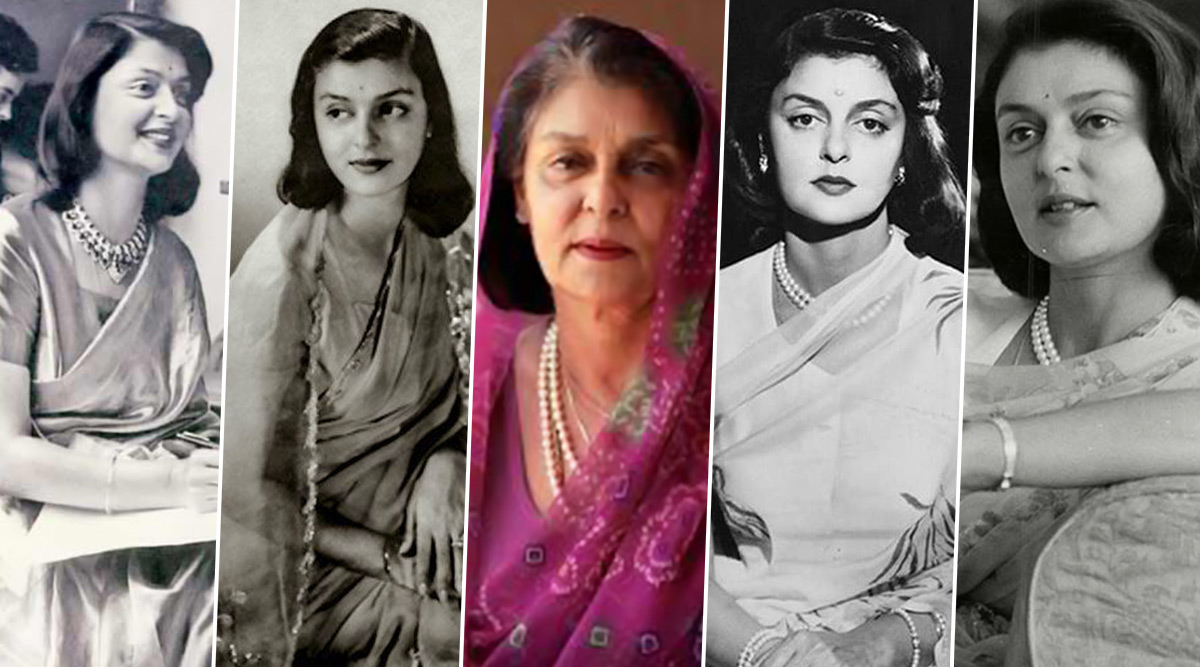 Maharani Gayatri Devi Birth Anniversary: Iconic Fashion Wardrobe Essentials for the Queen Approved Timeless Elegance and Opulence!