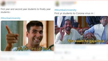 Mumbai University to Conduct Exams Only for Final Year Students! TY Candidates Aren't Happy but FY and SY Rejoice With Funny Memes and Jokes