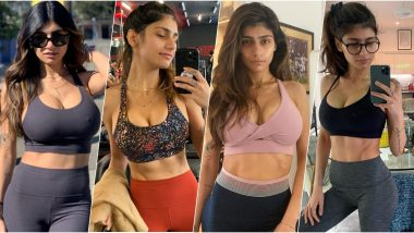 Mia Khalifa Hot & Sexy Photos in Sports Bra: 10 Times Pornhub Legend Proved She Is Fit as a Fiddle!