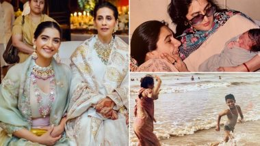 Mother's Day 2020: Sonam Kapoor, Vicky Kaushal, Sara Ali Khan Shower Love for Their Moms with Throwback Photos and Heart-Warming Messages