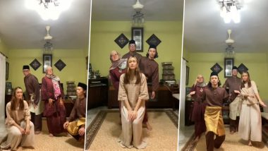 Muslim Families Extend Selamat Hari Raya and Salam Aidilfitri Greetings by Dancing to TikTok's Latest 'Think About Things' by Daði Freyr Trend & Others (Watch Videos)