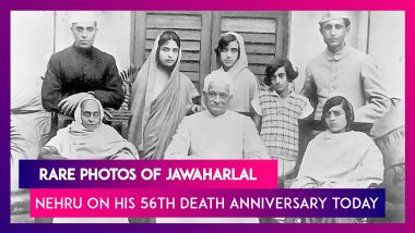 Jawaharlal Nehru 56th Death Anniversary: Rare Photos of India's First PM That You Should Not Miss