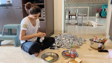 South Actress Nidhhi Agerwal Prepares Meals for Migrants Amid COVID-19 Lockdown (View Pic)