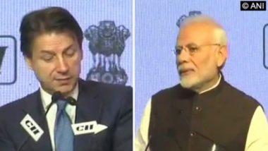 PM Narendra Modi Discuss Health, Economic Impact of COVID-19 With Italian Counterpart Giuseppe Conte