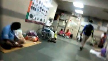 Video Shows Patients Sitting on Floor at KEM Hospital in Mumbai, BJP Leader Ram Kadam Shares The Clip Attacking Maharashtra Govt